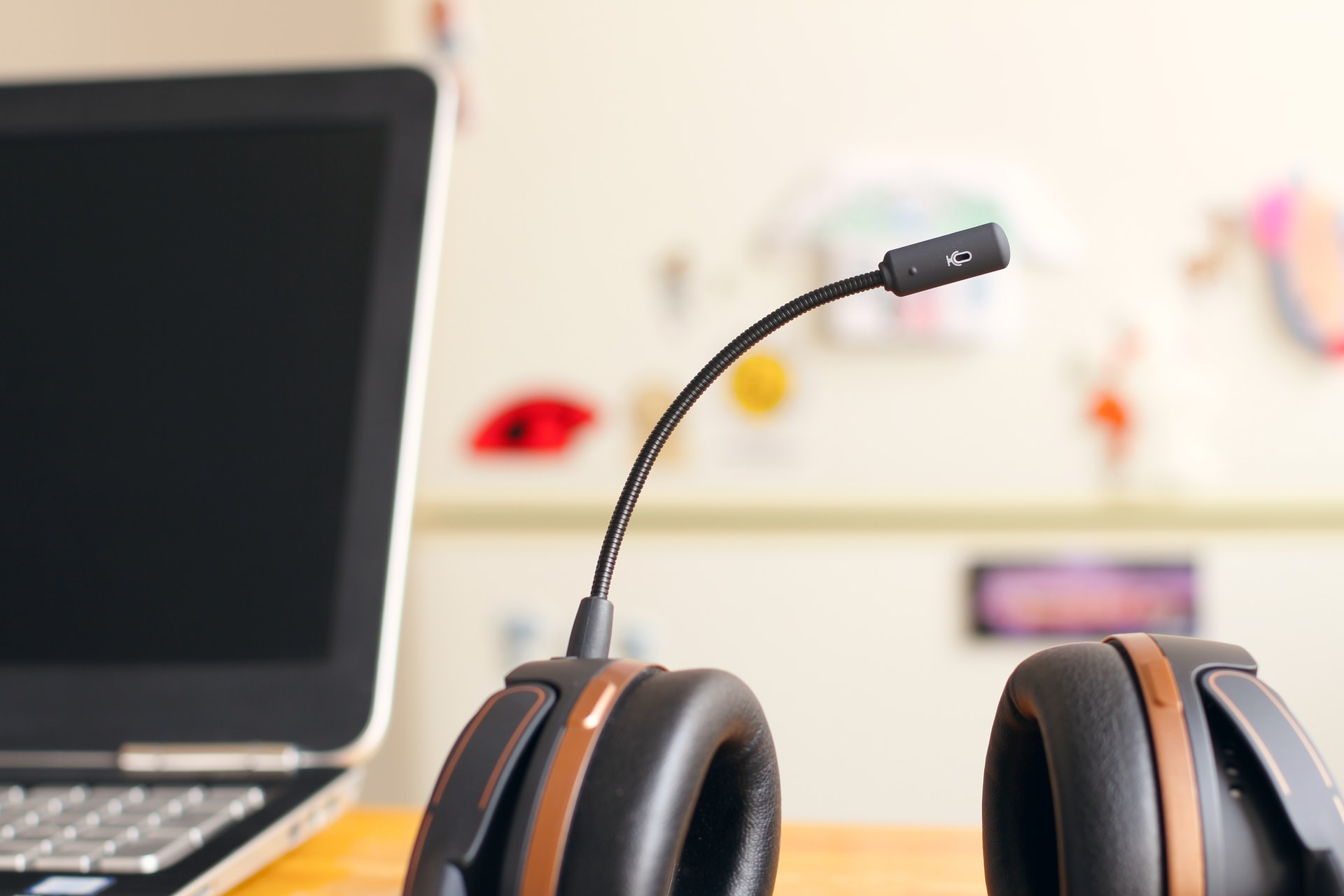 Headset on a table.