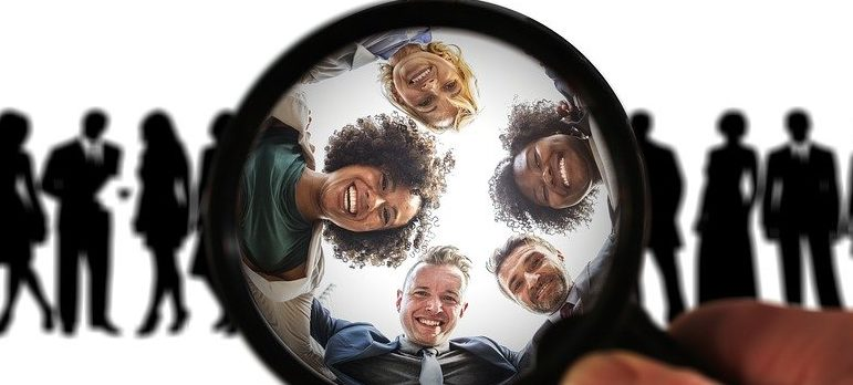 Looking at potential customers through the magnifying glass.