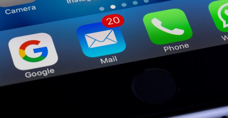 Emails in inbox notification.